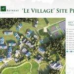 grondplan appartementsgebouwen dorpje in luxeresort limousin frankrijk