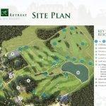 grondplan luxe spa en golf resort frankrijk investeringsopportuniteit op gebouwniveau