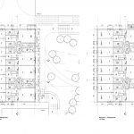grondplannen gebouw K gelijkvloers en verdiep franse opbrengsteigendom te koop