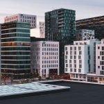 zakendistrict kantoorgebouwen in oslo noorwegen