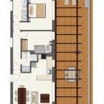 grondplan appartement 2 slaapkamers te koop spanje costa del sol aan golf resort met groot terras