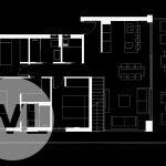 grondplan penthouses te koop in spanje op hoek met 3 slaapkamers op eerste verdieping met dakterras uiteindes U vorm