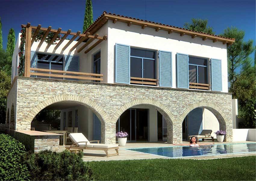hotelkamers te koop op samos griekenland in luxe hotel op heuvelflank in baai
