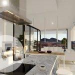 lichtrijk nieuwbouw penthouse te koop in spanje costa calida open keuken met kookeiland unieke uitzichten over mar de cristal