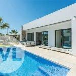 luxe villa spanje kopen privé zwembad drie slaapkamers twee badkamers santiago de la ribera costa calida
