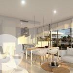 nieuwbouw appartement spanje te koop op hoek met privacy veel natuurlijk licht verbinding U vorm rechtse unit