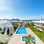 penthouses te koop spanje met uitzicht over gemeenschappelijke tuin en zwembaden costa calida mar de cristal aan mar menor