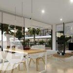woonkamer eetkamer nieuwbouw appartement te koop spanje natuurlijk licht glaspartijen costa calida