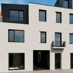 voorgevel gerenoveerd gebouw studentenkamers te koop leuven keuze uit 11 luxe wooneenheden met privé badkamer