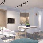 functioneel ingerichte studio met uitklapbaar tweepersoonsbed aan europese wijk brussel geschikte huisvesting voor expats