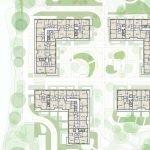 grondplan derde verdieping appartemensblokken met 1 2 3 slaapkamerappartementen te koop brussel