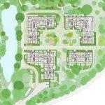 grondplan gelijkvloerse verdieping residentie met premium appartementen te koop in brussel watermaal bosvoorde