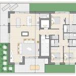 grondplan penthouse appartement te koop in blok b watermaal bosvoorde zicht op zoniënwoud