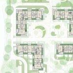 grondplan penthouses te koop bovenste verdieping van gebouwen watermaal bosvoorde aan zoniënwoud