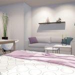 uitklapbaar tweepersoonsbed in studio perfect voor gemeubelde verhuur aan expats brussel