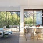 voorbeeld design en inrichting woonkamer appartement te koop als investering in brussel watermaal bosvoorde