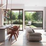 woonkamer van appartement te koop op gelijkvloers groene omgeving buiten in tuin watermaal bosvoorde