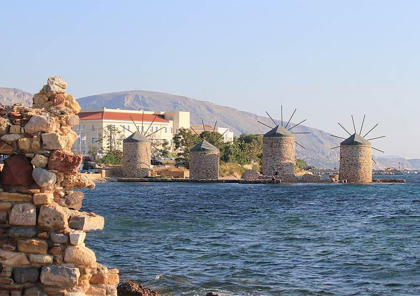 chios eiland windmolens uniek grieks eiland vlakbij turkije