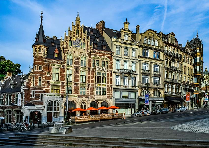 prachtige gebouwen en architectuur kunstberg centrum brussel