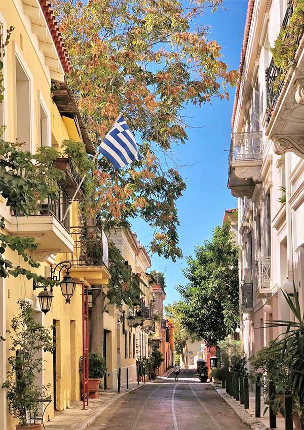 waar is beste plaats om vakantiehuis te kopen griekenland sfeerbeeld straat athene