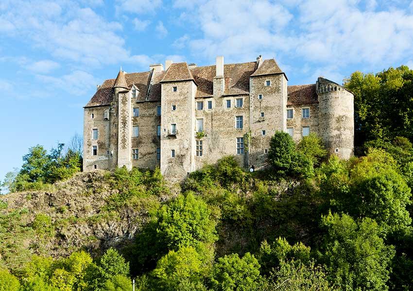kasteel van boussac unieke bezienswaardigheid in departement Creuse regio Limousin frankrijk